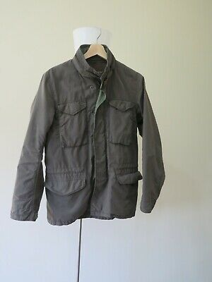 AU200 • Buy RARE - Beams M65 Military Field Jacket Olive Green Slim Fit Size Small Japan