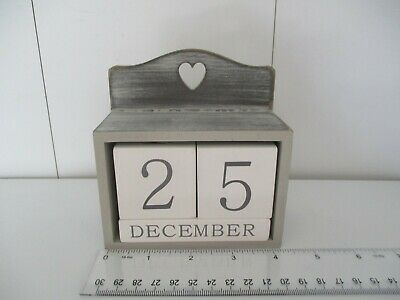 Perpetual Calendar Wooden Modern Country Shabby Chic  • 4.99£