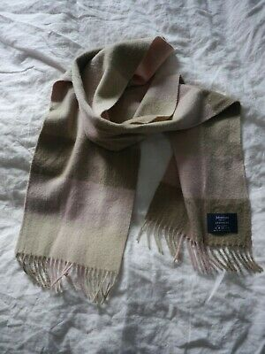 Johnstons Supersoft Pretty Pure 100% Cashmere Scarf Soft Pink, Oatmeal Beige • 14£
