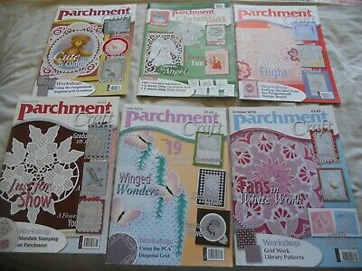 6 Parchment Craft Magazine 2009 & 2010 Including Christmas Special • 5£