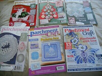 6 Parchment Craft Magazine Dated 2010 - 2018 • 5£