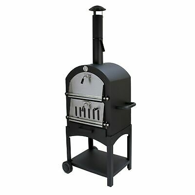 Pizza Oven / Grill Wood Charcoal Outdoor Garden Chimney BBQ Smoker Stone Baked • 189.29£