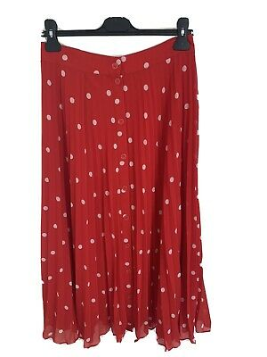 & Other Stories Red Polka Dot Skirt Size 38 UK Size 10 • 4.20£