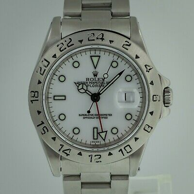 $ CDN9993.50 • Buy Rolex Explorer II Ref No 16570 Men's Stainless Steel GMT White Dial 1999