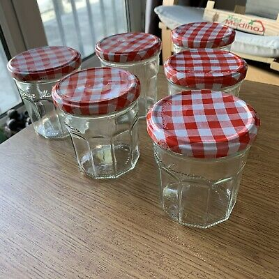 6 Bonne Maman Empty Jam Jars With Lids. Collection In Chiswick Or Post • 7£