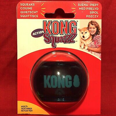 Kong Action Tough Rubber Squeaky Ball 5 Cm Multi Textured Fetch Toy Interactive • 5.99£