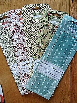 Christmas Decoupage Papers X 5 Packs.First Edition. BNIP.Each Pack Has 3 Sheets. • 0.99£