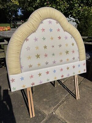 Single Bed Head Board Pretty Star Fabric Upholstered Girls Headboard Bedstead • 25£