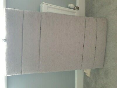 Single Headboard Grey/silver Fabric  • 12£