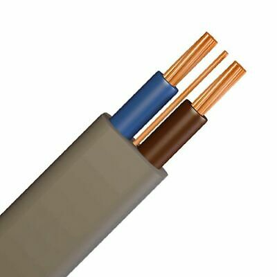 Twin And Earth T&E PVC Cable -  Electrical 1.0mm, 1.5mm, 2.5mm, 6mm & 10mm • 18.99£