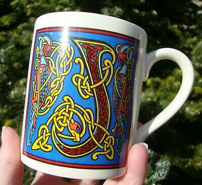Past Times Illuminated Celtic Initial Mug - Letter J - Very Good Used Condition • 8.99£