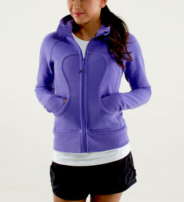 $ CDN70 • Buy LULULEMON ATHLETICA Power Purple Cotton SCUBA HOODIE JACKET/ Coat Size 8 MEDIUM