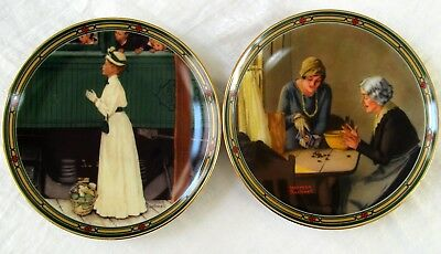 $ CDN12 • Buy Vtg Set Of 2 Knowles 1985 & 1986 Norman Rockwell Decorative Plates  L4