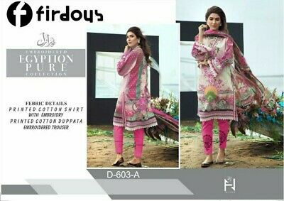 Firdous Indian Pakistani Embroidery Salwar Kameez Stitched Lawn Printed  • 28£