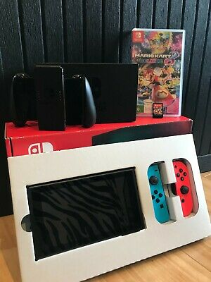 AU465 • Buy Nintendo Switch Console (red/blue Joy-con) Incl. Mario Kart 8 Game (hardly Used)