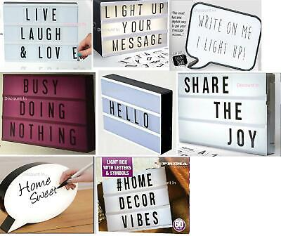 £11.99 • Buy Light Message Led Display Box With Letters Symbols Word Wedding Party Cinematic
