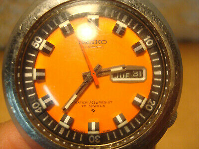 $ CDN600.03 • Buy Vintage Seiko Orange Iconic Diver's Watch Face  Automatic 6106-7107 WORKING