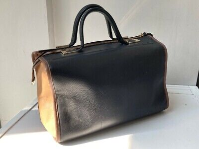 Anya Hindmarch Black Tan Leather Bruton Bag Women's With Dust Bag. • 135£