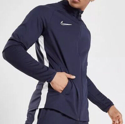 Mens Nike Academy Dri Fit Track Top.Clearance No Faults. New. Navy. Size Large • 15£