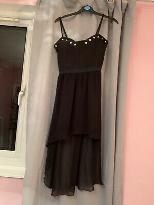 Urban Outfitters Black Sweetheart Fitted Dress With A High Low Skirt • 4.50£