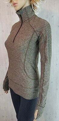 $ CDN52 • Buy Lululemon Rush Hour Long Sleeve Pullover Top 6 Heathered Military Green Rulu EUC