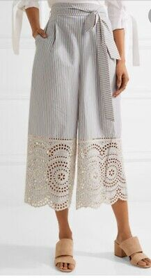 AU29 • Buy Zimmermann Meridian Broderie-anglaise Cotton Pants Size 1