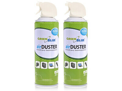 2x Air Duster Spray Gas Cleaner 2x 400ml Compressed Dust Blower Easy Clean HQ UK • 8.70£