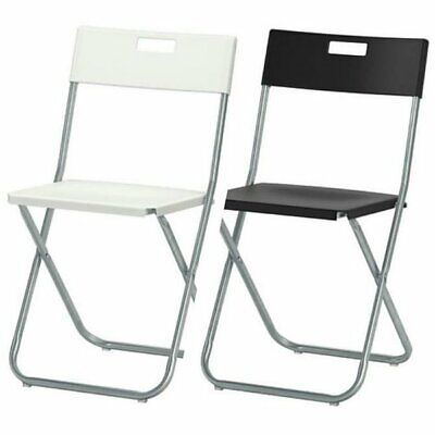 IKEA GUNDE Folding Chair Galvanized Steel Lightweight Durable Easy To Carry  • 13.99£
