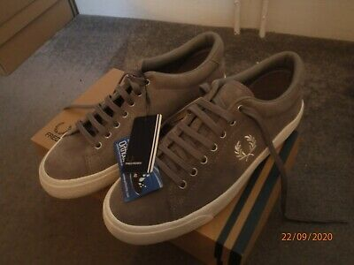 Fred Perry Underspin Suede Shoes In Falcon Grey UK 7 US 8 EU 41 Ortholite • 48£