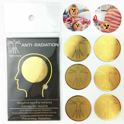 6Pcs Anti Radiation EMF EMR Protector Cell Phone Sticker For Smartphones Laptop • 4.44£