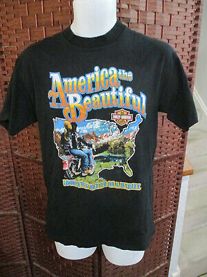 $ CDN80 • Buy Vintage 80's Harley Davidson T Shirt America The Beautiful Large Double Sided