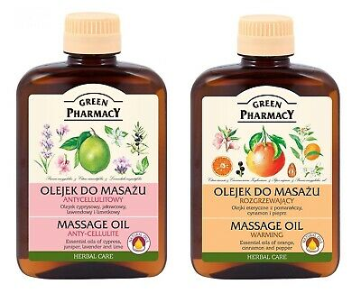 Green Pharmacy MASSAGE OIL ANTI-CELLULITE / WARMING • 11.22£