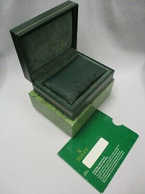 $ CDN120.25 • Buy ROLEX Green Watch Box Set 12.00.71. With Deteriorating Pillow & Documents Sleeve