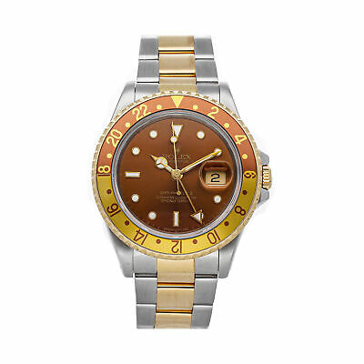 $ CDN13809.16 • Buy Rolex GMT-Master II Rootbeer Auto Steel Gold Mens Oyster Bracelet Watch 16713