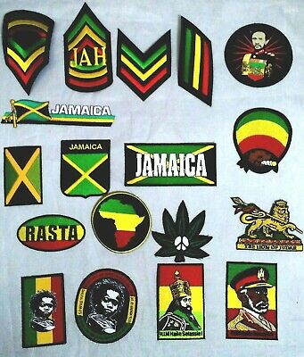 IRON ON BADGE PATCH TRANSFER To Clothes Hats Bags Jamaica Rasta R/Y/G New  • 2.99£