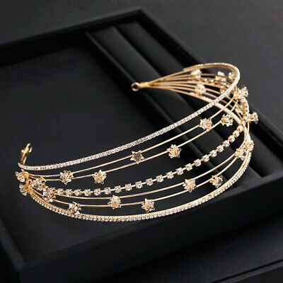 $ CDN12.10 • Buy Women's Baroque Crystal Hairband Width Crown Headband Hair Accessories Wedding