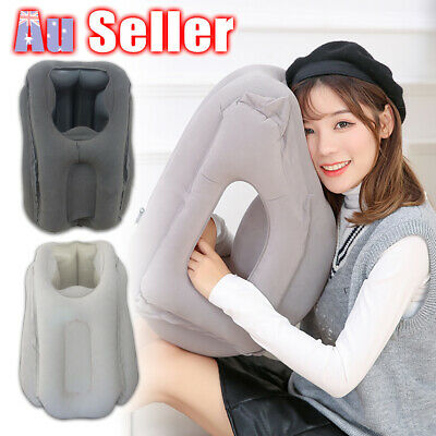 AU17.45 • Buy Air Travel Pillow Neck Flight Inflatable Cushion Support Nap Comfortable