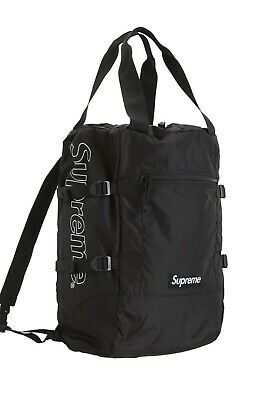 $ CDN178.04 • Buy Supreme Tote Backpack Color Black Brand New Authenticity Guaranteed W/ Stickers