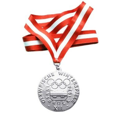 £39.83 • Buy Silver Medal Of The XII Winter Olympic Games In Innsbruck 1976
