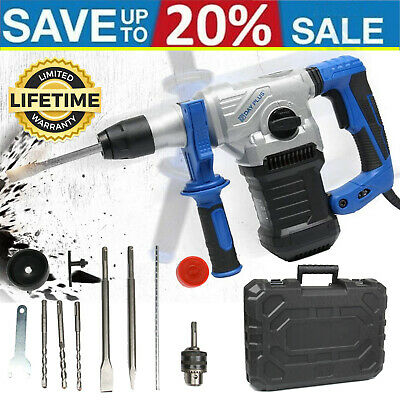 View Details DayPlus 1500W Rotary Hammer Drill SDS Plus 4 Funcion Chisel Action Breaker 240V☑ • 69.46£