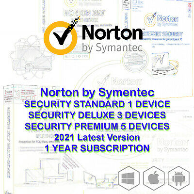 AU28.80 • Buy Norton Internet Security STANDARD DELUXE PREMIUM 2020 1 3 5 Devices Windows Mac
