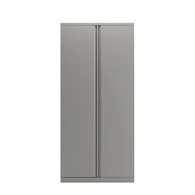 Bisley 2 Door 1970mm Cupboard Empty Goose Grey Kf78715 • 300£