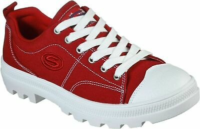 Skechers Women's Roadies True Roots Trainers, COLOR RED, SIZE UK 2.5, EUR 35.5 • 33.99£