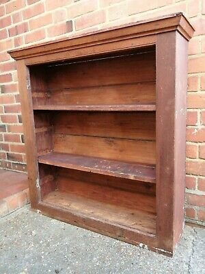 Vintage Wood Display Cabinet, Dresser Top, Book Case, Shabby Chic Or Upcycling, • 1£