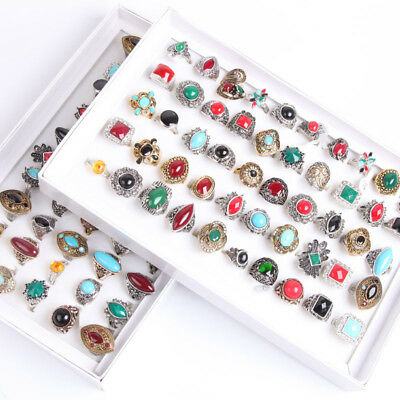$ CDN53.56 • Buy Boxed Rings New ASSORTED Wholesale Jewelry VINTAGE Rings Lots Discount Promotion