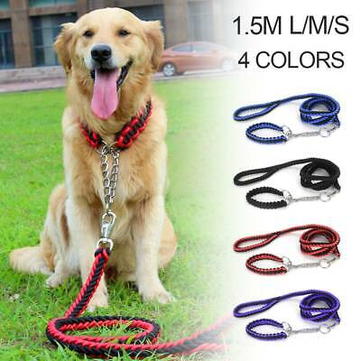 £4.39 • Buy Dog Leads Pet Leash With Dogs Chain Coupler Splitter Strong Harness Puppy Collar