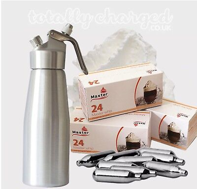 MASTER WHIP 8g Whipped Cream Chargers Canisters Capsule Dispensers NO2 NOS N20  • 22.99£