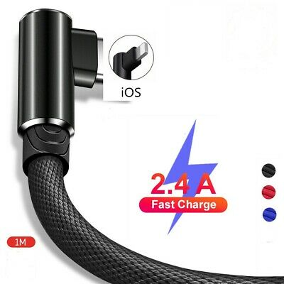 £3.85 • Buy 1Meter 90 Degree Lighting Cable MFi Certified Right Angle IPhone Charger Cable