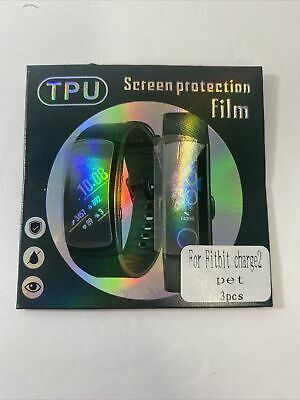 $ CDN5.06 • Buy 3-Pack Screen Protector Pet TPU Full Coverage Clear Film For Fitbit Charge 2