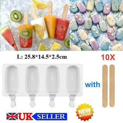 £4.20 • Buy Frozen Ice Cream Pop Mold Kitchen Popsicle Maker Lolly Cake Mould Tray Large